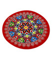 Diwali  Floor StIcker Rangoli - Round - 1 pc