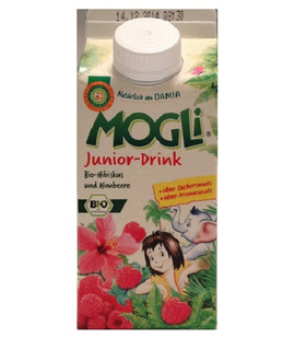 Junior Drink (Hibiscus-Raspberry) - Mogli - 330ml