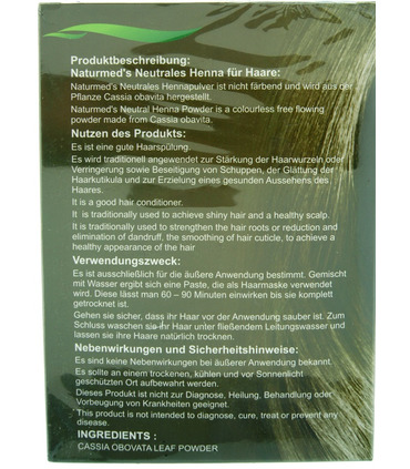 Naturemed`s Henna for Hair