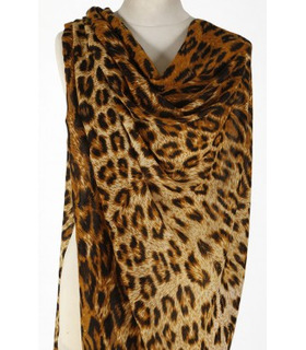 Brown Tiger Print -Wool Scarf
