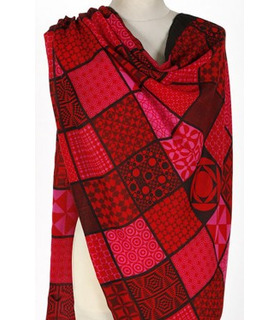 Printed Red & Black - Wool Scarf