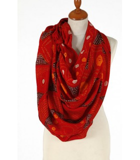 Red and Orange - Wool Scarf