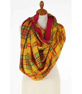 Yellow and Red - Wool Scarf