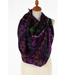 Purple - Wool Scarf