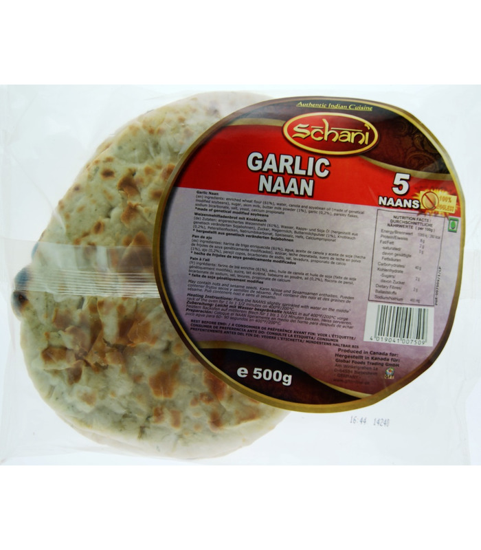 Schani Garlic Naan - 5 Pieces