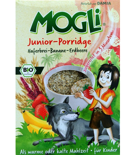 Junior Porridge (Oats-Banana-Strawberry) - Mogli - 375g