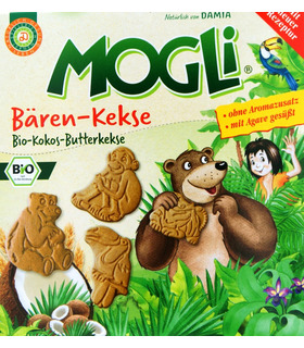 Bear Biscuits (Coco-Butter Biscuits) - Mogli - 125g (1+1)