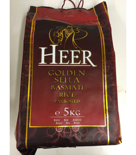 Heer Golden Sella Basmati rice-parboiled - 5kg