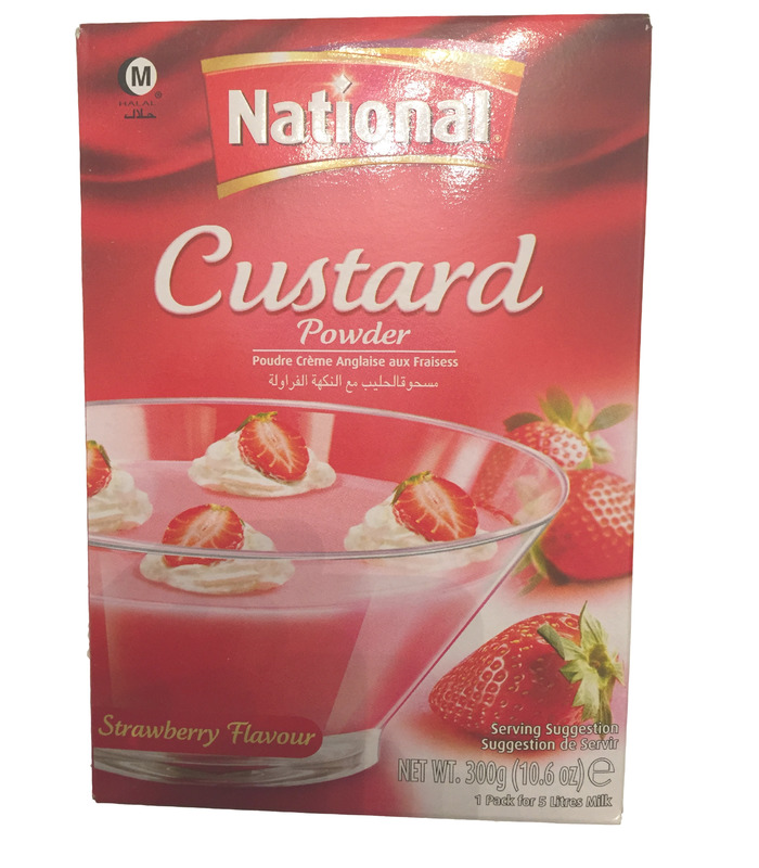 National Custard - Strawberry Flavour - 300g