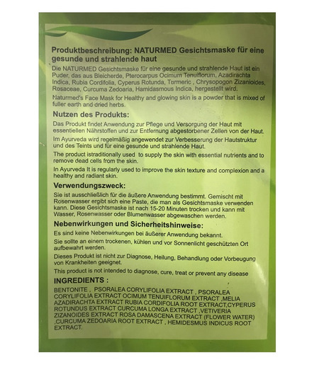 Naturmed`s Face Mask for Healthy and Glowing Skin - 100g