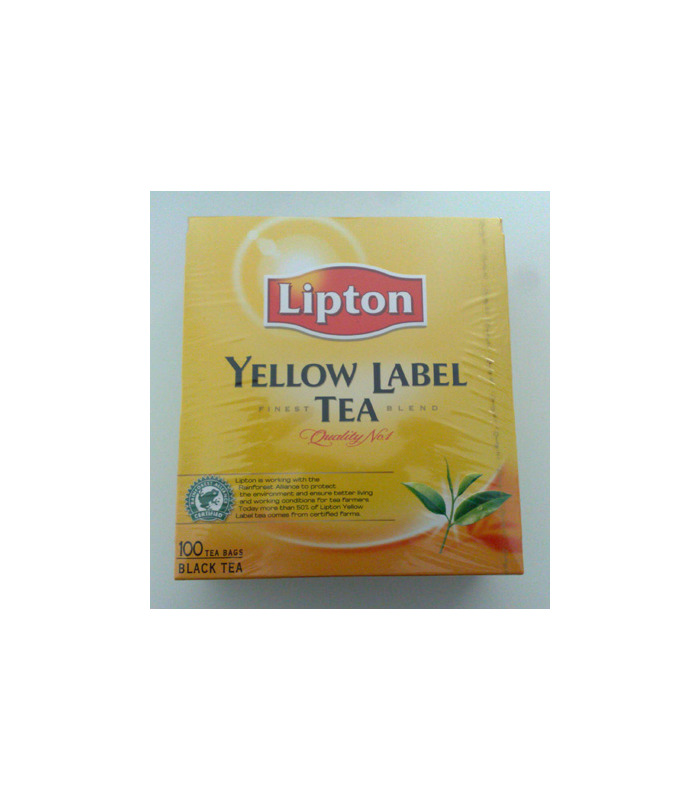 Lipton Yellow Label Black Tea - 100 Tea Bags