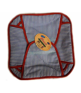 Traditional Roti Box - Bread Cover - Blue and Red