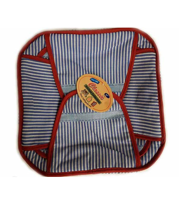 Traditional Roti Box Big - Bread Cover - Blue and Red