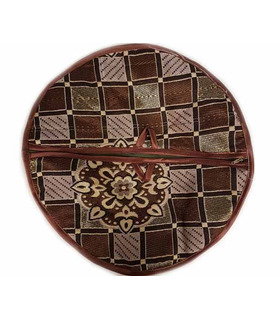 Traditional Roti Box - Bread Cover - Brown Check Print