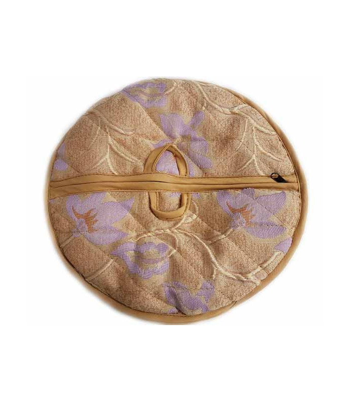 Traditional Roti Box - Bread Cover - Light Brown and Purple