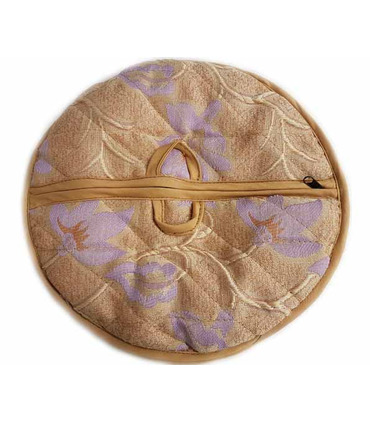 Traditional Roti Box - Bread Cover - Light Brown and Puple