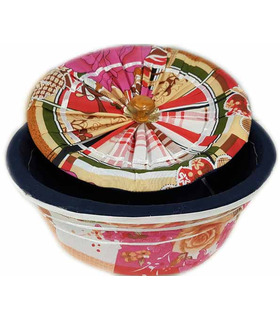Traditional Roti Box Big - Bread Cover - Pink
