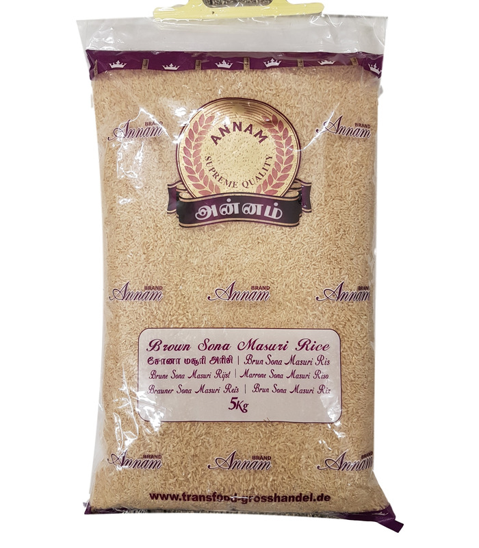Annam BROWN Sona Masoori Rice - 5kg