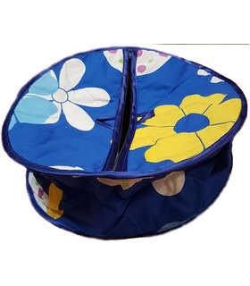 Traditional Roti Box - Bread Cover - Blue and Yellow