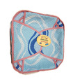 Traditional Roti Box - Bread Cover - Blue Pattern with Pink Outline