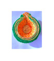 Colored Diya - 1 piece