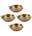 Brass Diya - 4 Pieces