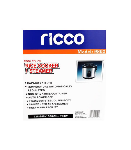 Ricco Rice Cooker_1.8Ltrs