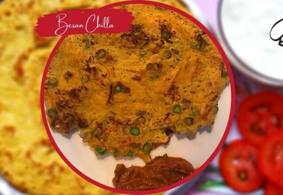 Vegan Vegetable Omelette/ Besan Chilla