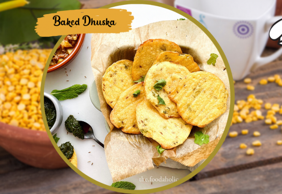 Baked Dhuska- Savory Indian Bread